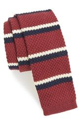1901 'Club Stripe' Knit Cotton Tie