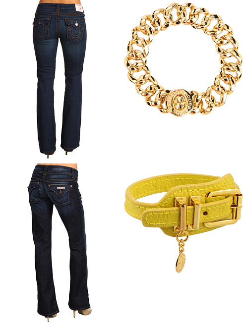 Petite Becky Boot in Vera Cruz by True Religion, Turnlock Small Katie Bracelet by Marc by Marc Jacobs, Petite Signature Boot in Elm by Hudson, Adjustable Bracelet w/ Charm by BCBGeneration