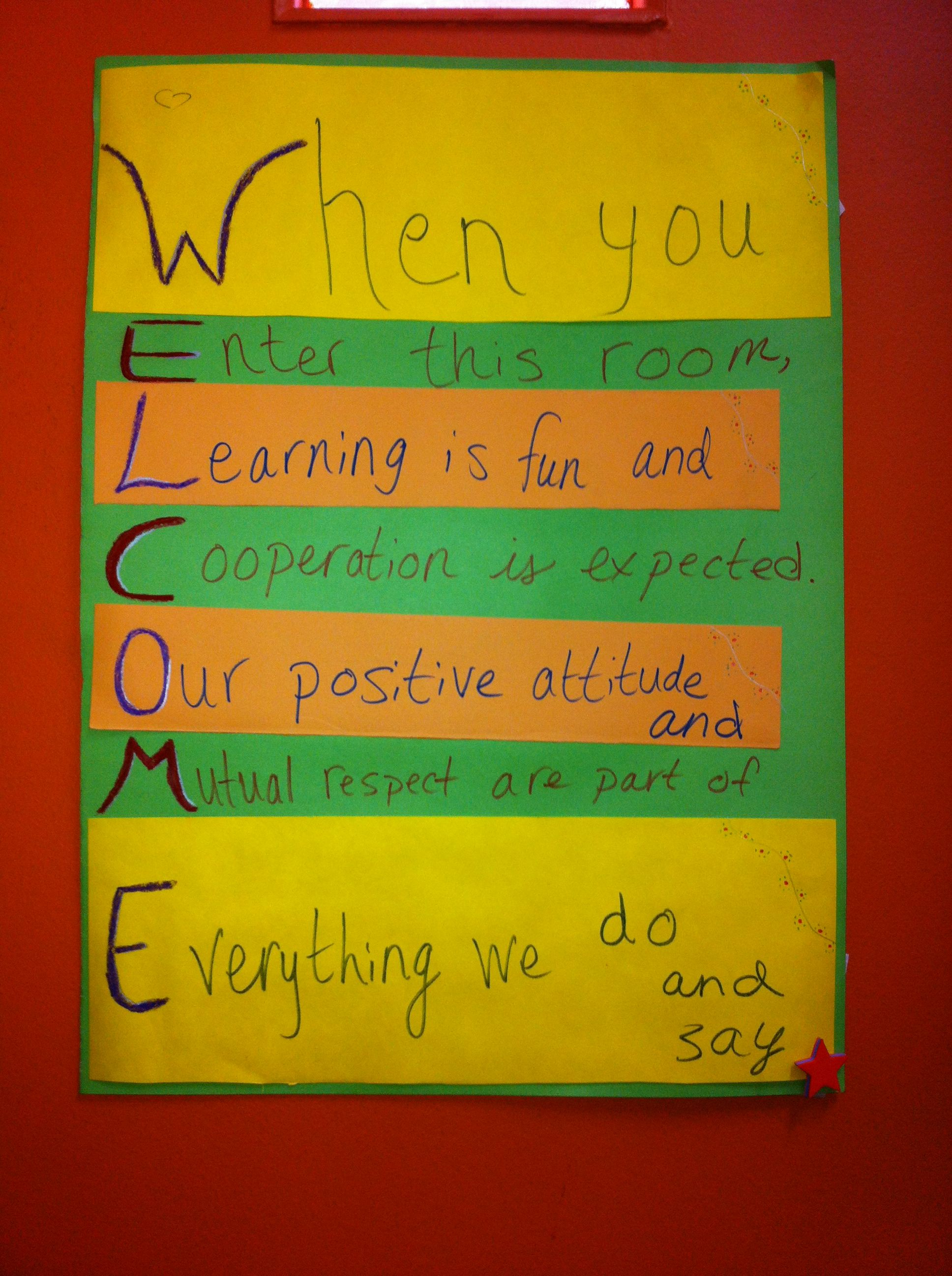 Welcome Poster In An English Classroom English Classroom Classroom Fun Classroom Posters Expected reading level grade victoria