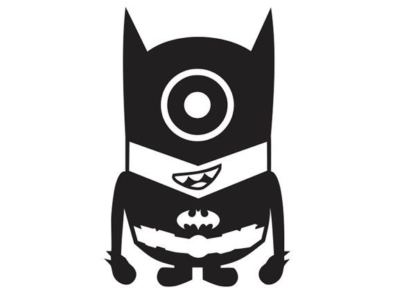 Despicable Me Minion Batman Laptop Car Truck Vinyl Decal Window Sticker