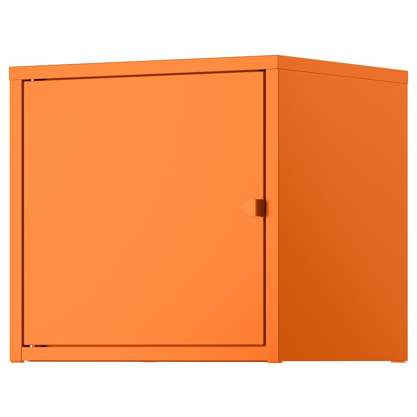 Lixhult Schrank Metall Orange Schrank Werkstattschranke Und