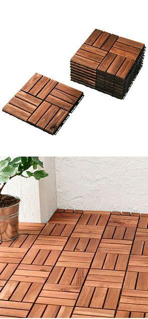 RUNNEN Decking, Outdoor, Brown Stained. Deck FlooringOutdoor TilesOutdoor  Patio ...