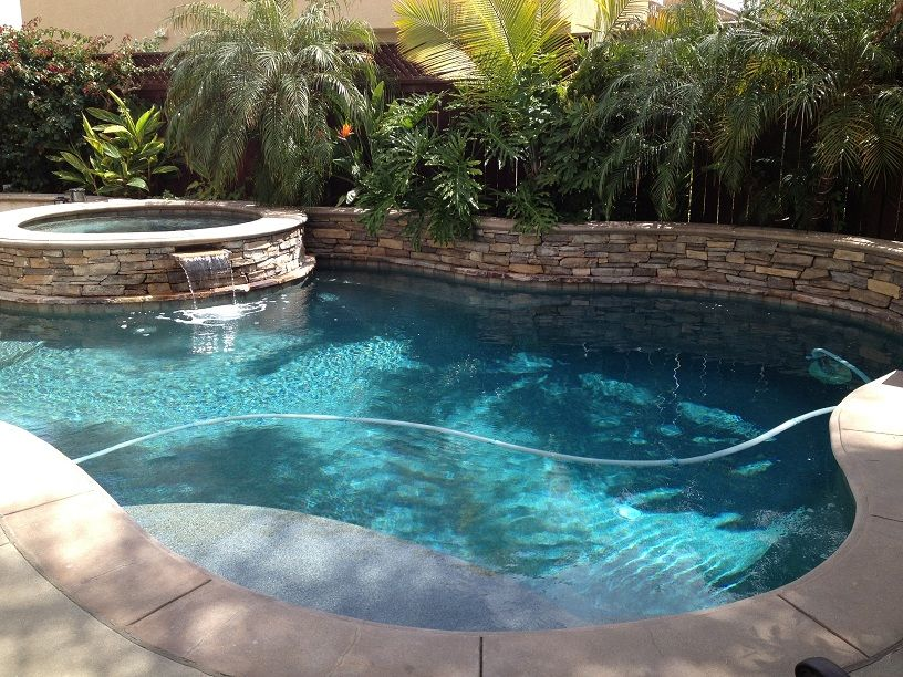 Perfect Pool For A Small Backyard Dimensions Are About 18 By 26 Including Spa