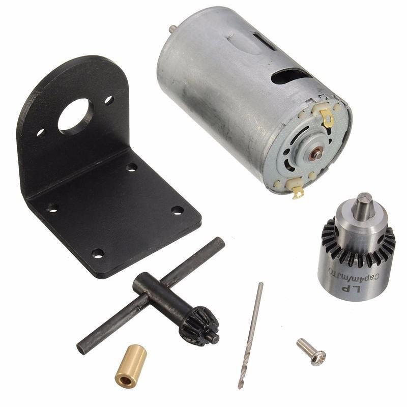 US Mini Hand Drill Lathe Press 555 Motor w// Ball Bearing Mounting Bracket 24V