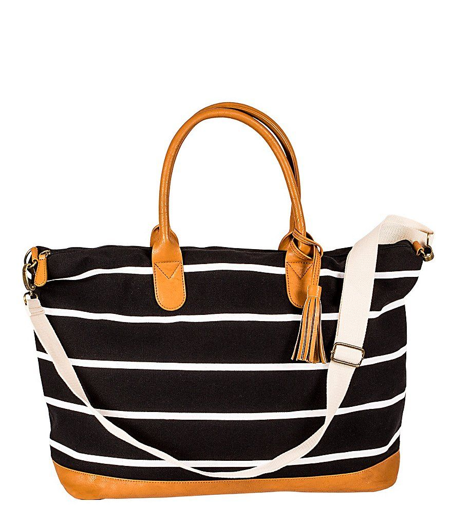 Cathys concepts personalized striped canvas oversized