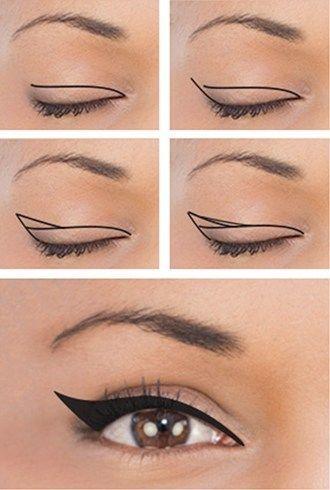 Mini Guide On Eyeliner para diferentes formas de ojos explicadas de 9 maneras: moda, joyas, maquillaje, zapatos, modelos de tatuajes