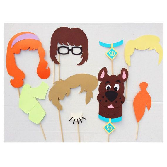 cartoon decorations scooby doo inspired photo booth props birthday party decorations