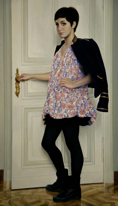 - Girl at the Door (2013) - Oil on Canvas - 174 X 100  #velartez #VasilBerela #paintingskills #artist #painter #art #painters #artistic #arts #artists   #artist_sharing #artiststudio #worldofartists #oilpainting #fineart #contemporaryart #arts_gallery #artacademy #painting #realism #masterpiece #buyart #fineartist #artcollector #artgallery #onlineartgallery #artforsale #paintings