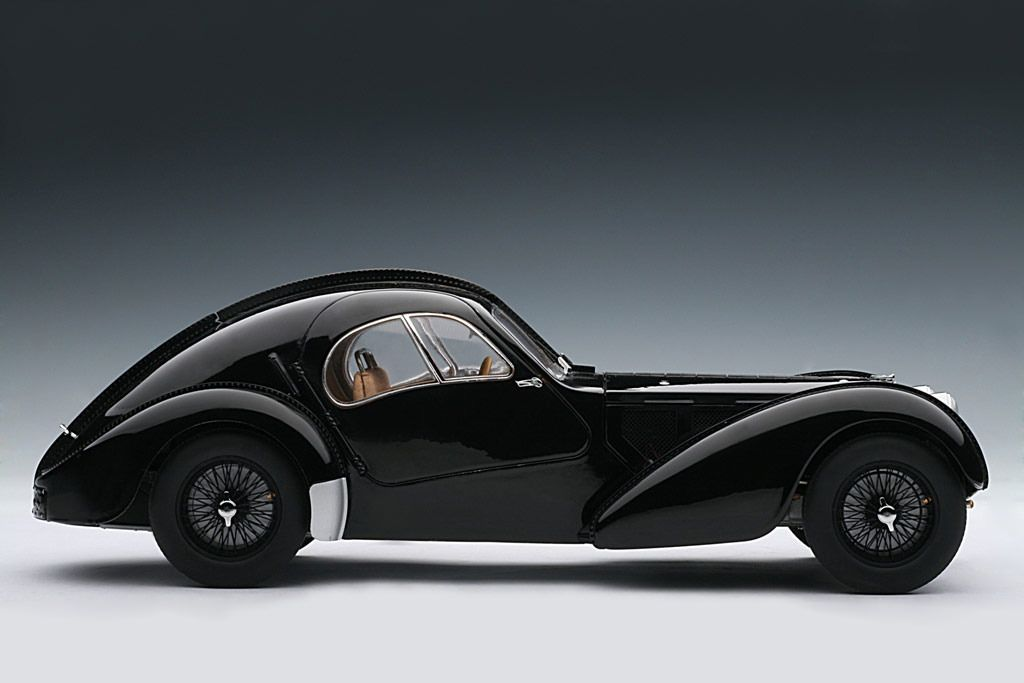 Autoart 1938 Bugatti 57sc Atlantic Black W Disc Wheels 70941 In 1 18 Scale Bugatti Sports Cars Luxury Amazing Cars