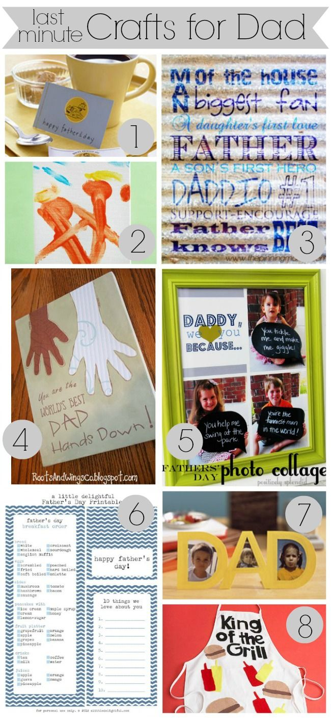 Father 39 s day gift guide 2013 last minute crafts for dad for Last minute diy birthday gifts for dad