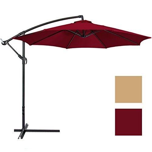 10 Offset Hanging Patio Umbrella Jet