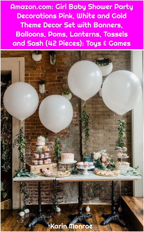 1. Amazon.com: Girl Baby Shower Party Decorations Pink, White and Gold Theme Decor Set with Banners, Balloons, Poms, Lanterns, Tassels and Sash (42 Pieces): Toys & Games Amazon.com: Girl Baby Shower Party Decorations Pink, White and Gold Theme Decor Set… Continue Reading →  , #Amazoncom, #Baby, #Balloons, #Banners, #Decor, #Decorations, #Games, #Girl, #Gold, #Lanterns, #Party, #Pieces, #Pink, #Poms, #Sash, #Set, #Shower, #Tassels, #Theme, #Toys, #White