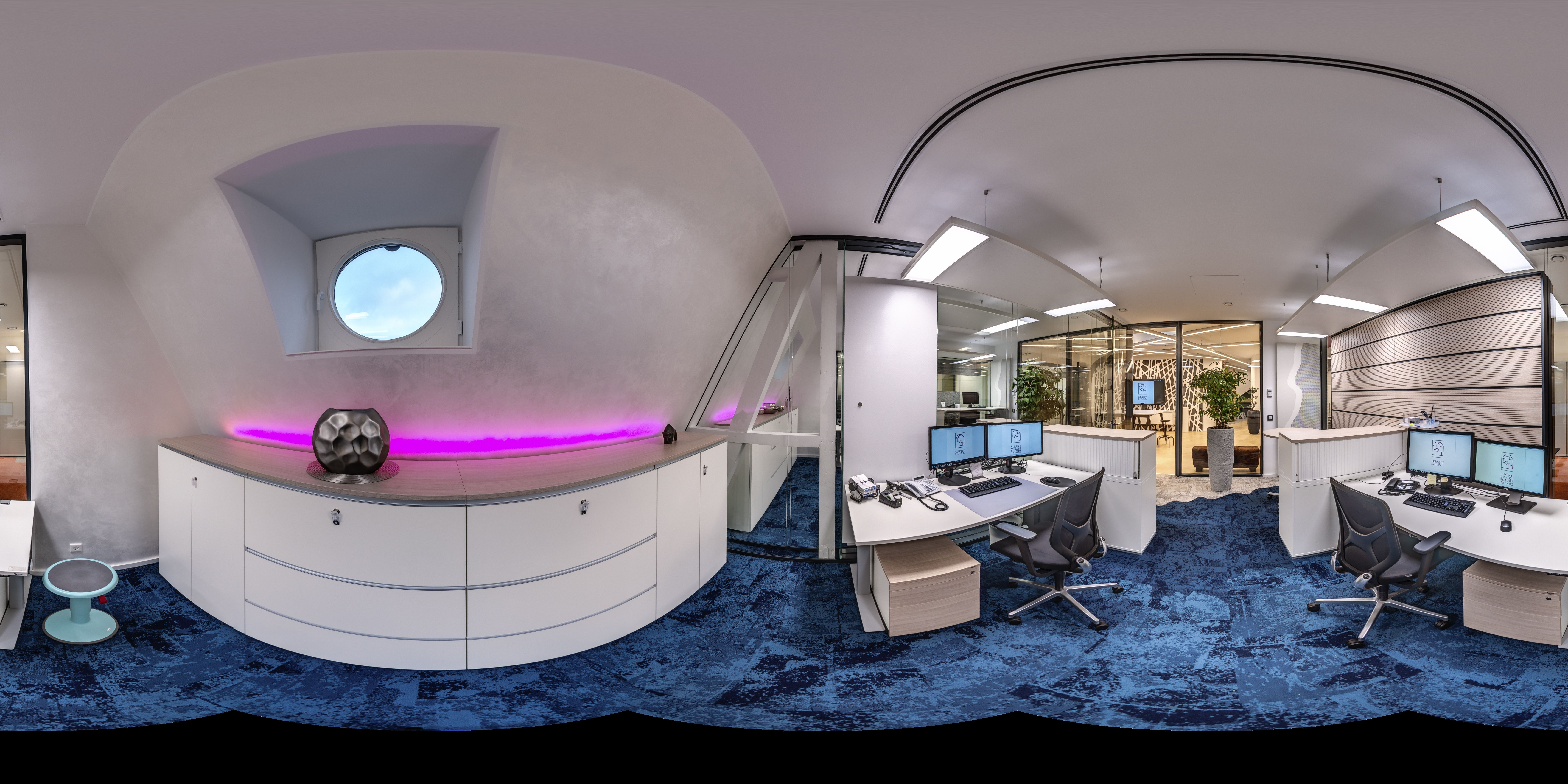 Office Backoffice Im Farbdesign Kompetent Auf Basis Des Planungs Und Farbgestaltungs Handbuch Farben Des Buros Loft Raum Innenarchitekt
