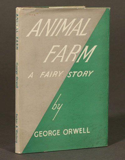 Ik heb al vele leuke covers gezien van Animal Farm. Dit is de eerste versie met de oorspronkelijke titel. De ondertitel werd weggelaten door de uitgever.