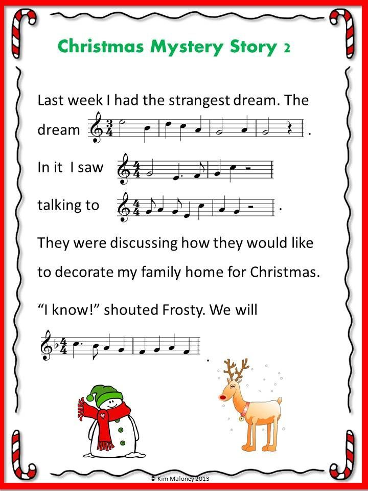 Christmas Music Activities 6 Christmas Music Mystery Stories For Middle School Christmas Music Activities Music Activities Elementary Music Classroom