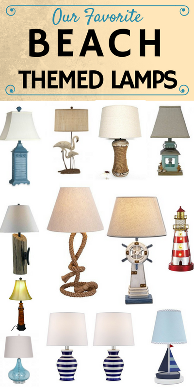 Nautical Themed Lamps At Beachfront, Ocean Themed Lamps
