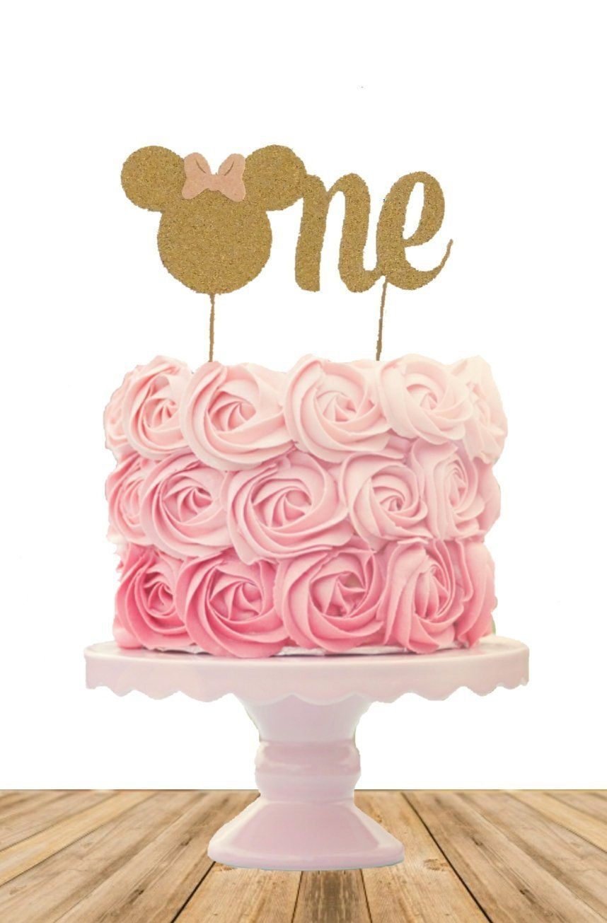 Excited To Share The Latest Addition To My Etsy Shop Minnie Mouse Birthday Cak Baby Birthday Party Girl Minnie Mouse 1st Birthday Minnie Mouse First Birthday