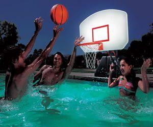 Lighted Poolside Basketball Hoop