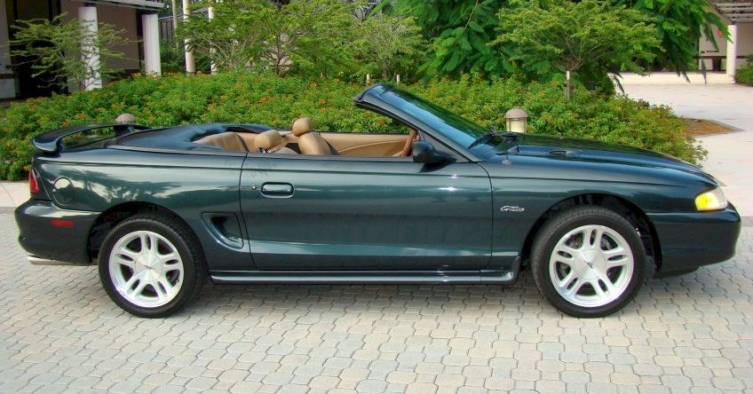 Dark Satin Green 1998 Ford Mustang Gt Convertible