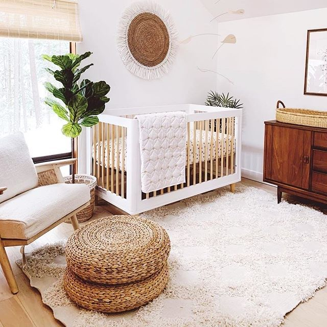 "Project Nursery on Instagram: ""Love at first sight 😍. Those boho vibes! You know it is going to be a good month when our BEST SELLING crib is on S A L E all month long!…"""