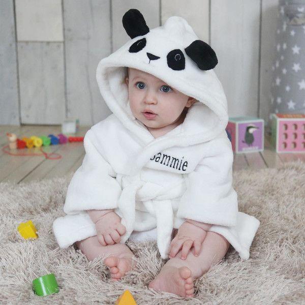 b737367713 Personalised baby · Panda Robe