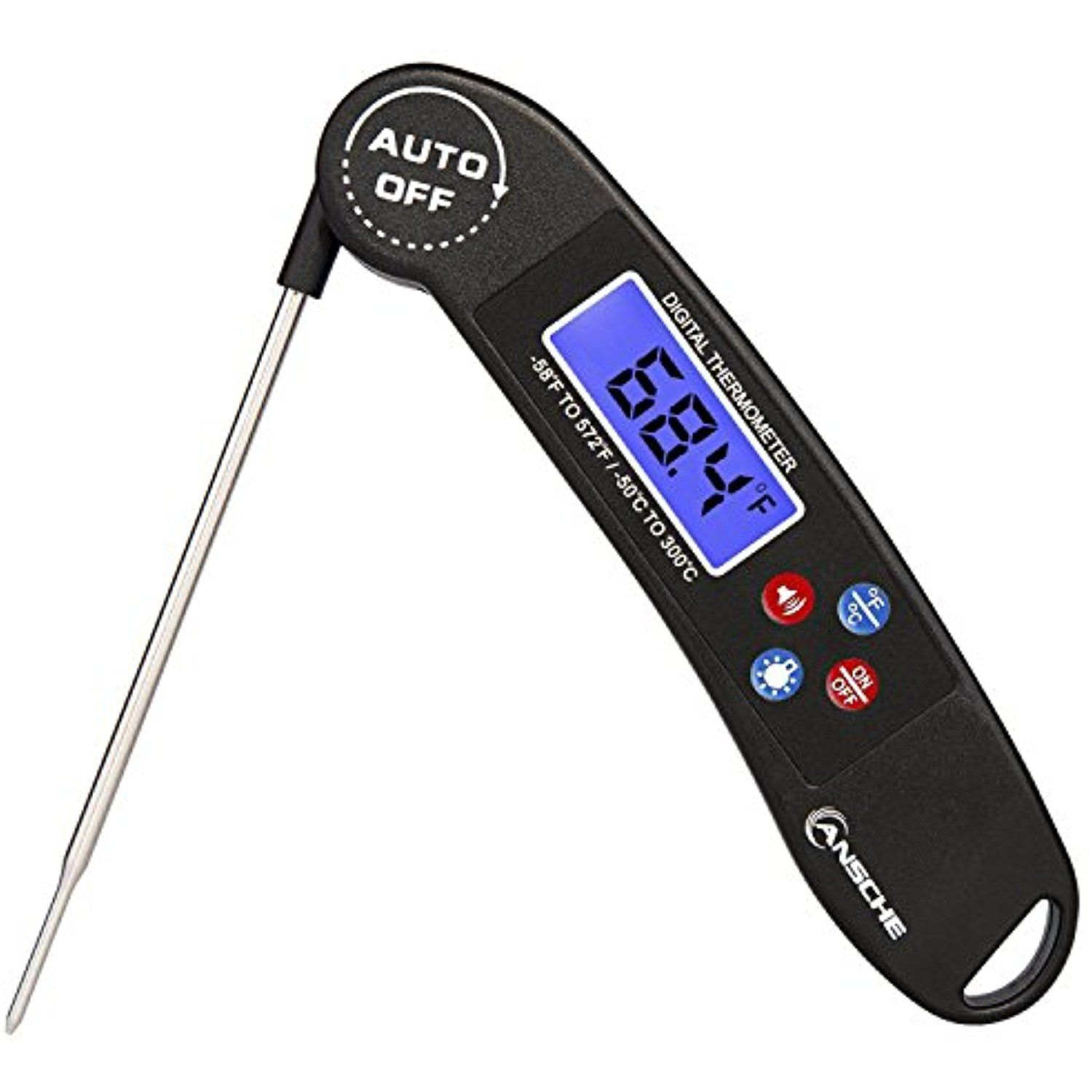 Meat Thermometer Ansche 4 5 Seconds Instant Read Digital Cooking