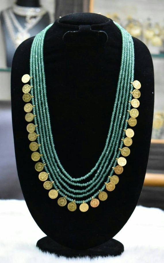 Emerald Mala with Laxmi ruplu