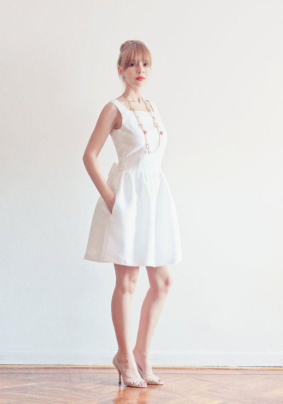 3accb26e15 Evie Dress White Open-back Linen Dress with by LanaStepulApparel ...