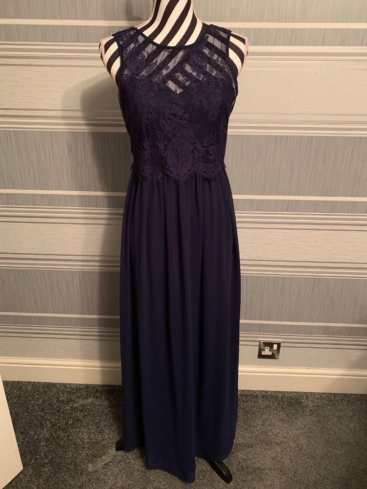 b28a33b9fd DOROTHY perkins Showcase Long Evening Navy Dress Lace UK 8 2 #fashion  #clothing #
