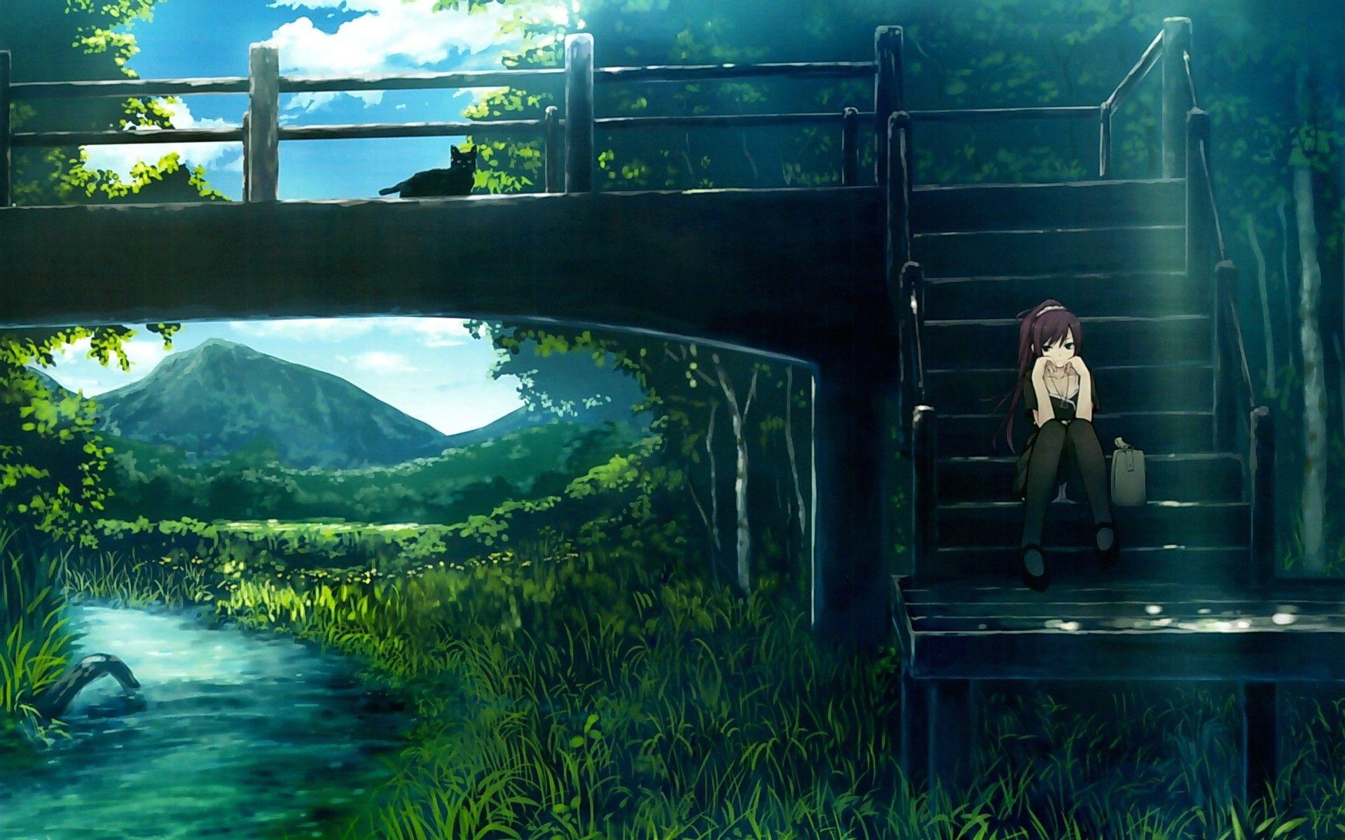 Nature Anime Scenery Anime Scenery Wallpaper Anime Background