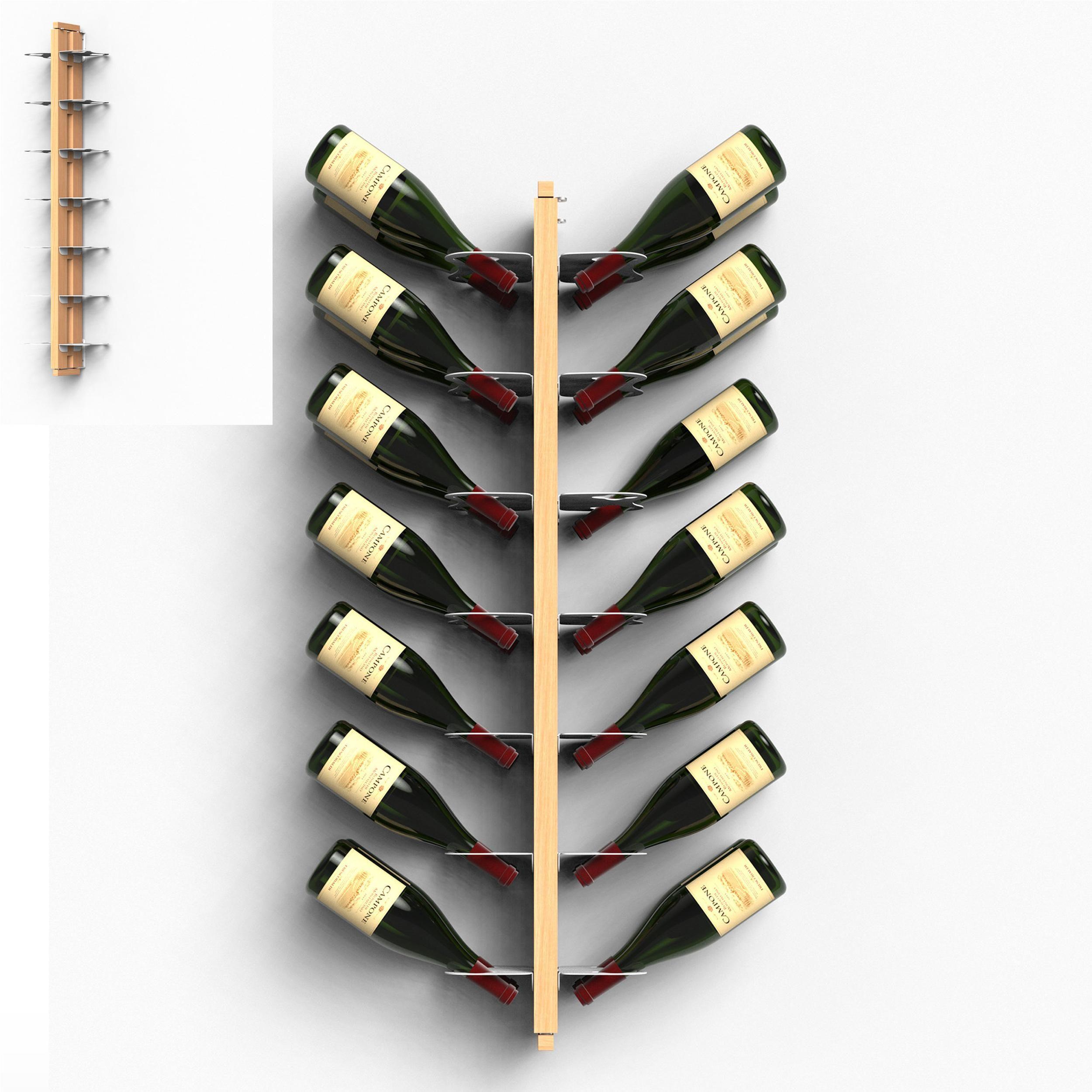 Fissaggio Mensole Legno.Porta Bottiglie Di Vino Sospesa Bifacciale Fissaggio A Muro