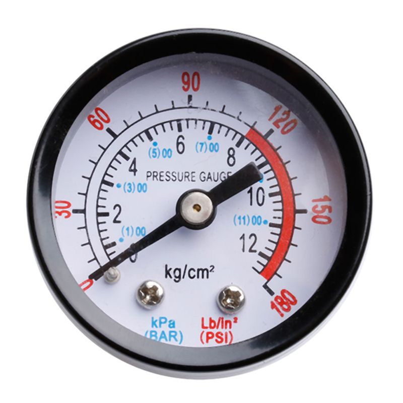 High Quality 0 180psi 0 12bar 1 8 Male Thread Air Compressor Hydraulic Fluid Pressure Gauge For Air Compressor I Hydraulic Fluid Pressure Gauge Air Compressor