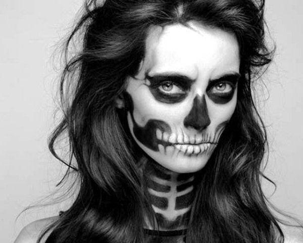 squeleton halloween maquillage et beaut pinterest. Black Bedroom Furniture Sets. Home Design Ideas