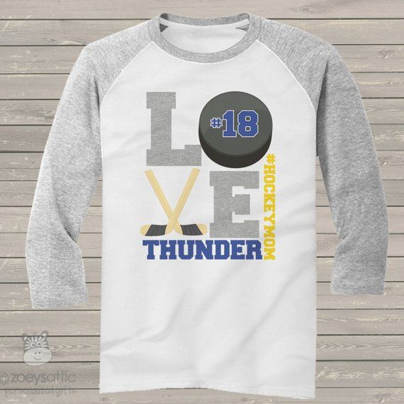 9a88cb19 Hockey mom heathered LOVE three quarter sleeve ADULT raglan baseball shirt