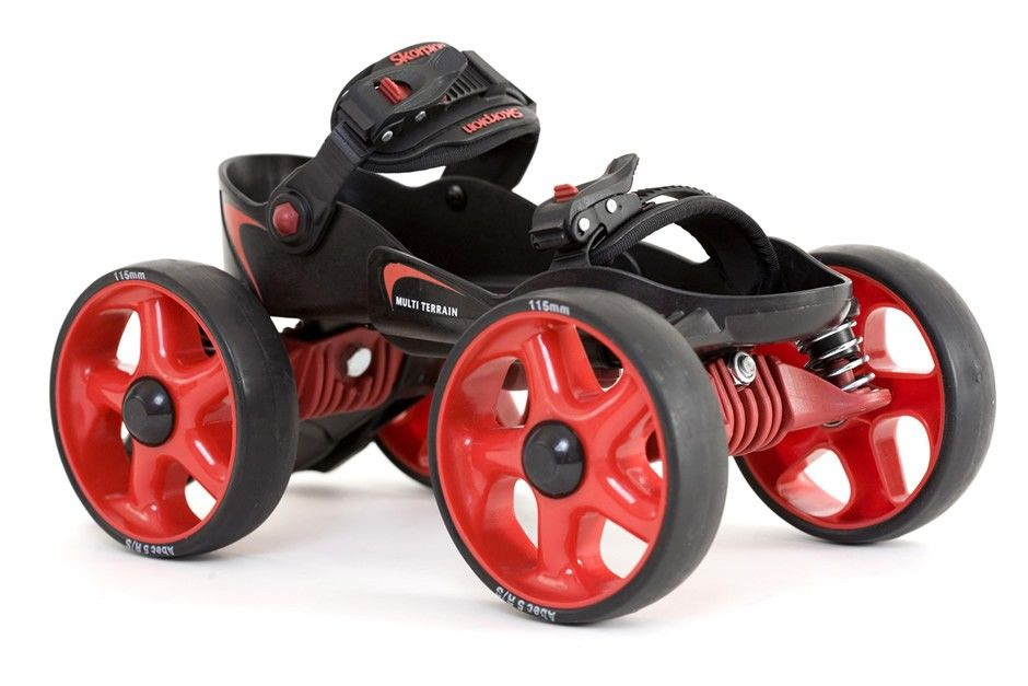 Skorpion™ Multi Terrain Skates (Large Red Black) Off-Road Quad