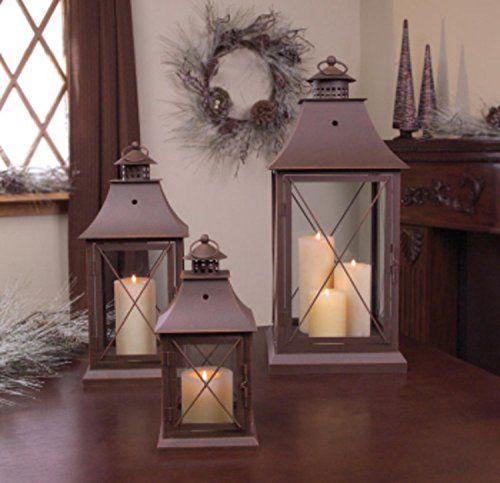 Set of 3 Cottage-Style Brown Pillar Candle Holder Lantern... https://smile.amazon.com/dp/B00AFBHHSM/ref=cm_sw_r_pi_awdb_x_UCJsybT5GM1K2