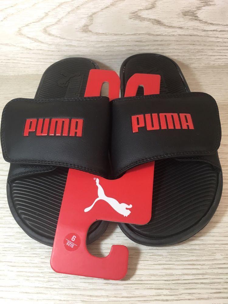 db019dee51e2 Puma Men Size 9 Black Flip Flop Sport Thong Slides Beach Sandals New  32.00  888394847896