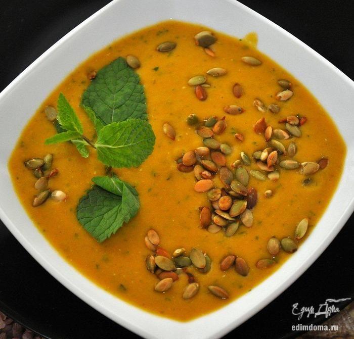 Тыквенный суп-пюре с чечевицей | Рецепт | Чечевица ...