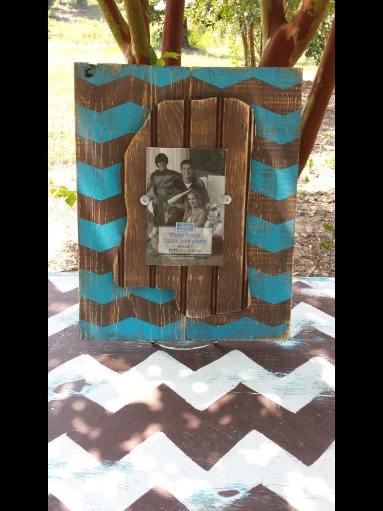 Distressed Mississippi Picture Frame by DurioDesigns on Etsy