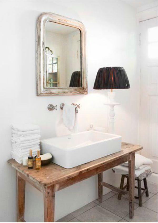 Ein Alter Holztisch Ist Genug Um Den Charme Zu Machen Alter Charme Genug Holztisch Machen Waschbecken Design Alter Holztisch Badezimmer