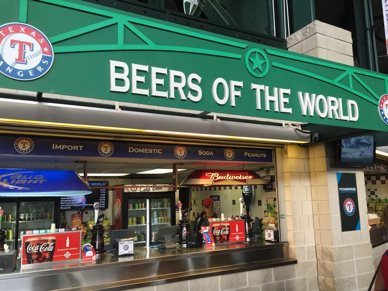 Rangers Ballpark Beer Map Beer Map Beer Beer Brands