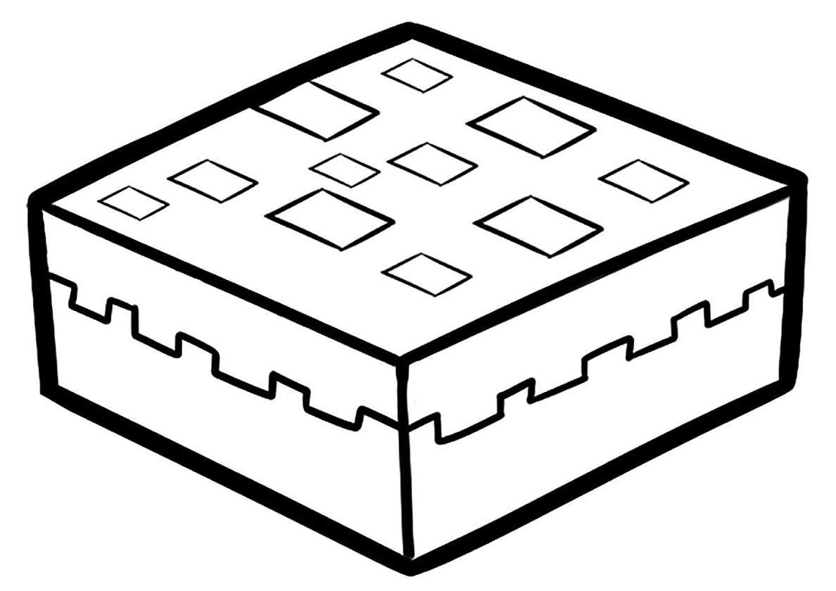 Pie High Quality Free Coloring From The Category Minecraft More Printable Pictures On Our Websi Minecraft Coloring Pages Free Coloring Pages Coloring Pages