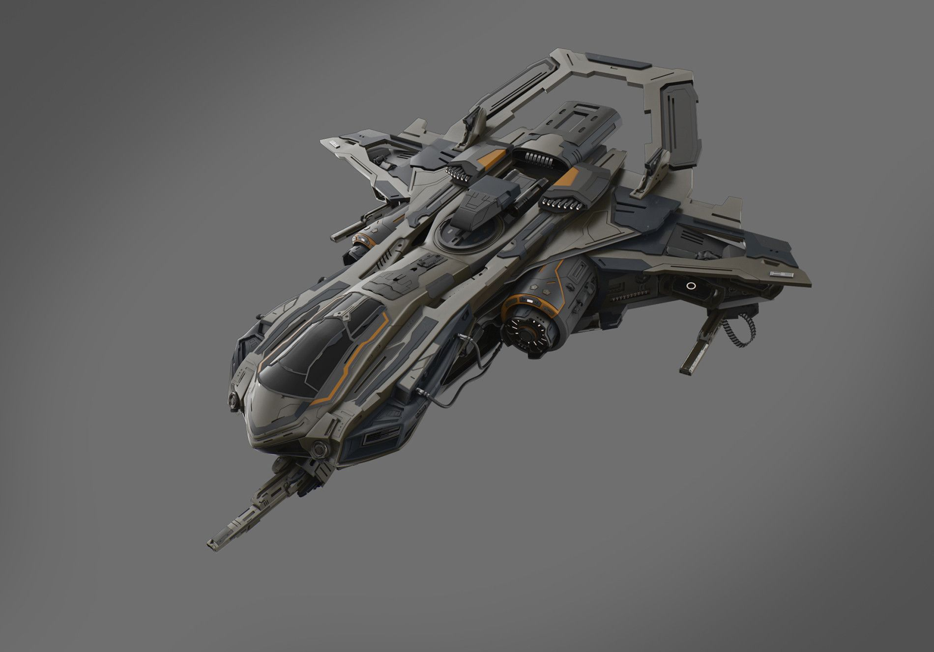 Work in progress! Drop ship for Project PAZ!! Spaceship