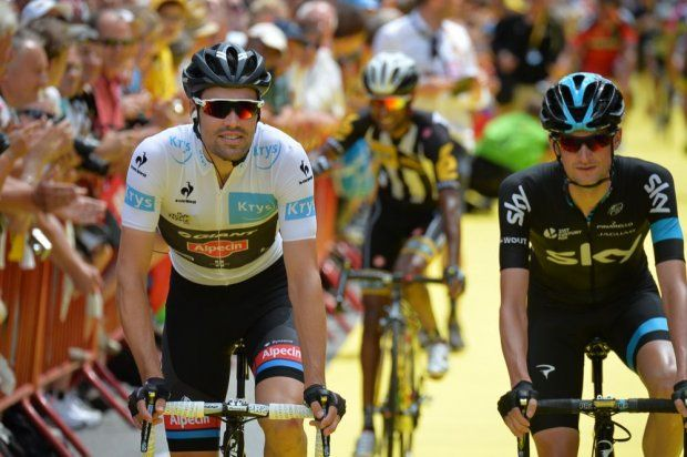 Stage 3.  Anvers to Huy. Tom Dumoulin and Wouter Poels.
