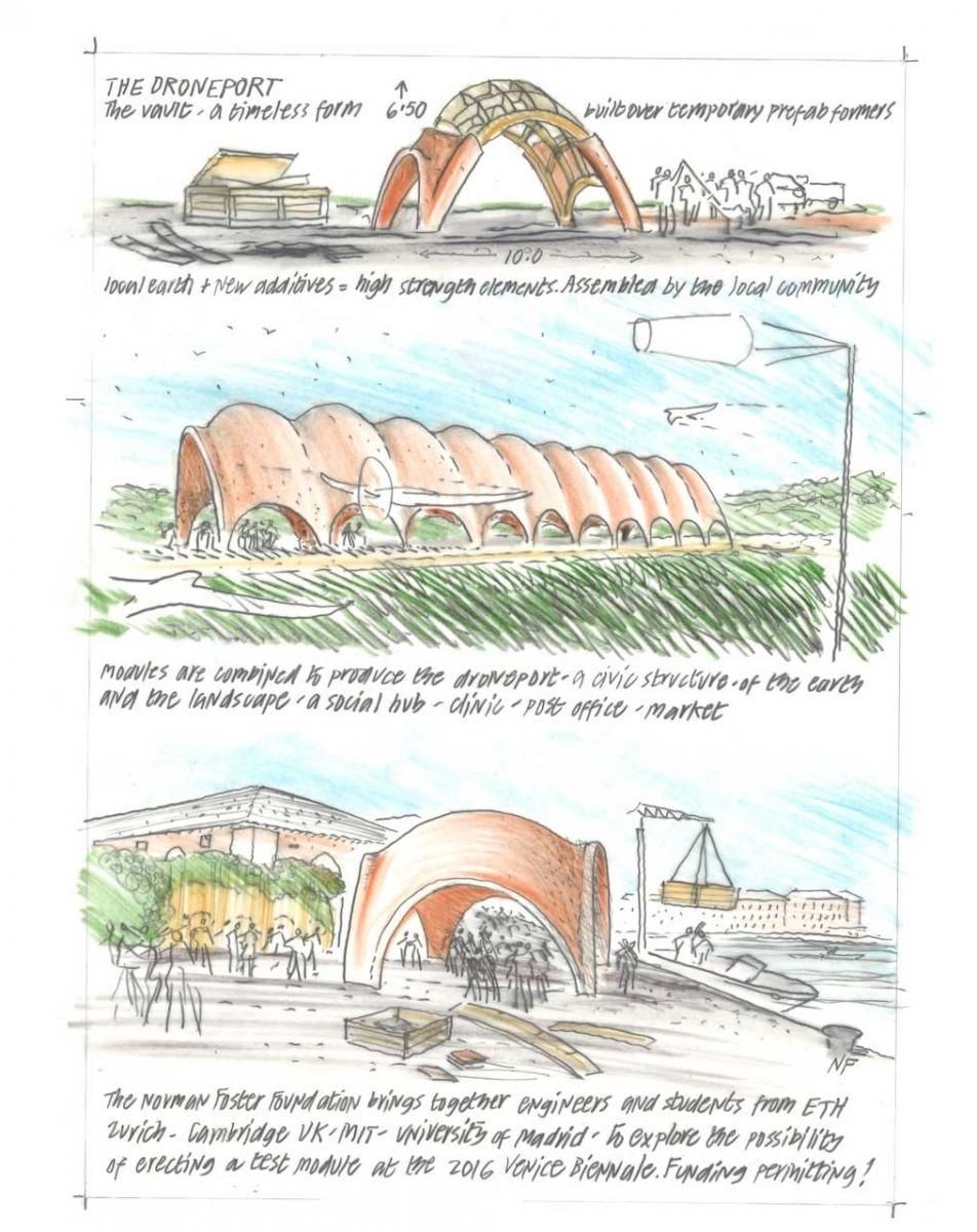 NORMAN FOSTER FOUNDATION PRESENTED THE DRONEPORT PROTOTYPE AT VENICE