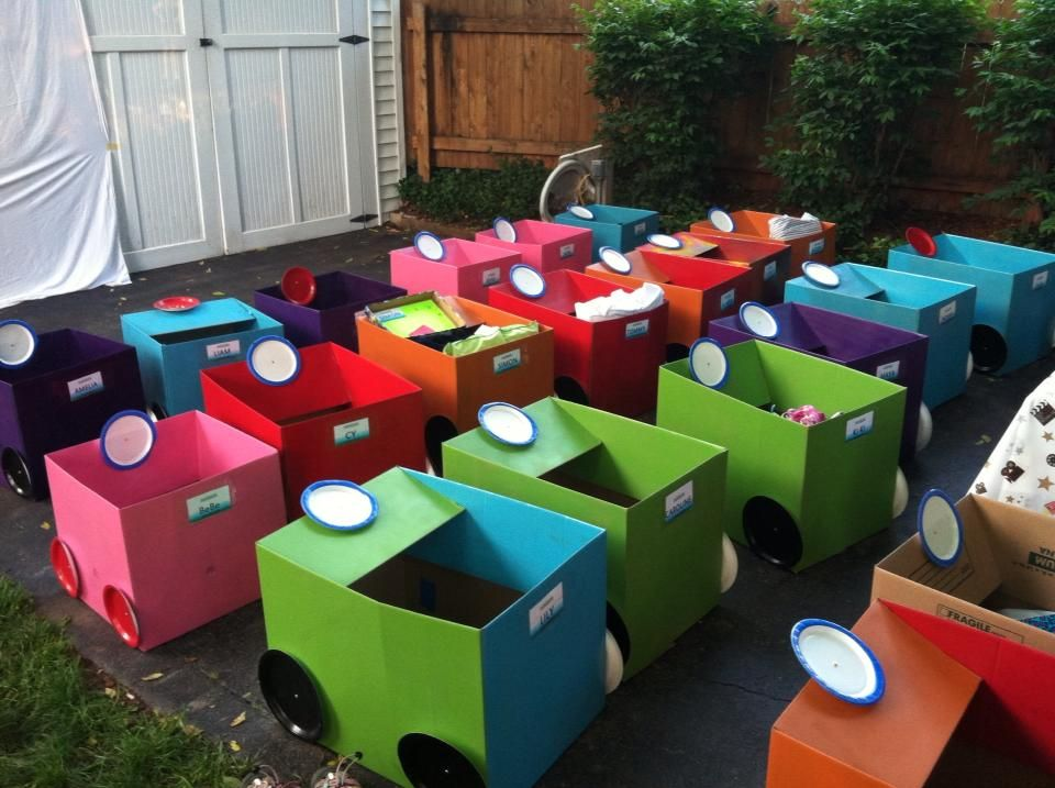 10 Ideas About Cardboard Box Cars On Pinterest: Drive-in Movie Cars Made From Boxes.