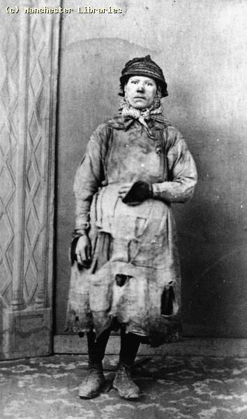 Woman Coal Miner, 1890 by mcrarchives, via Flickr