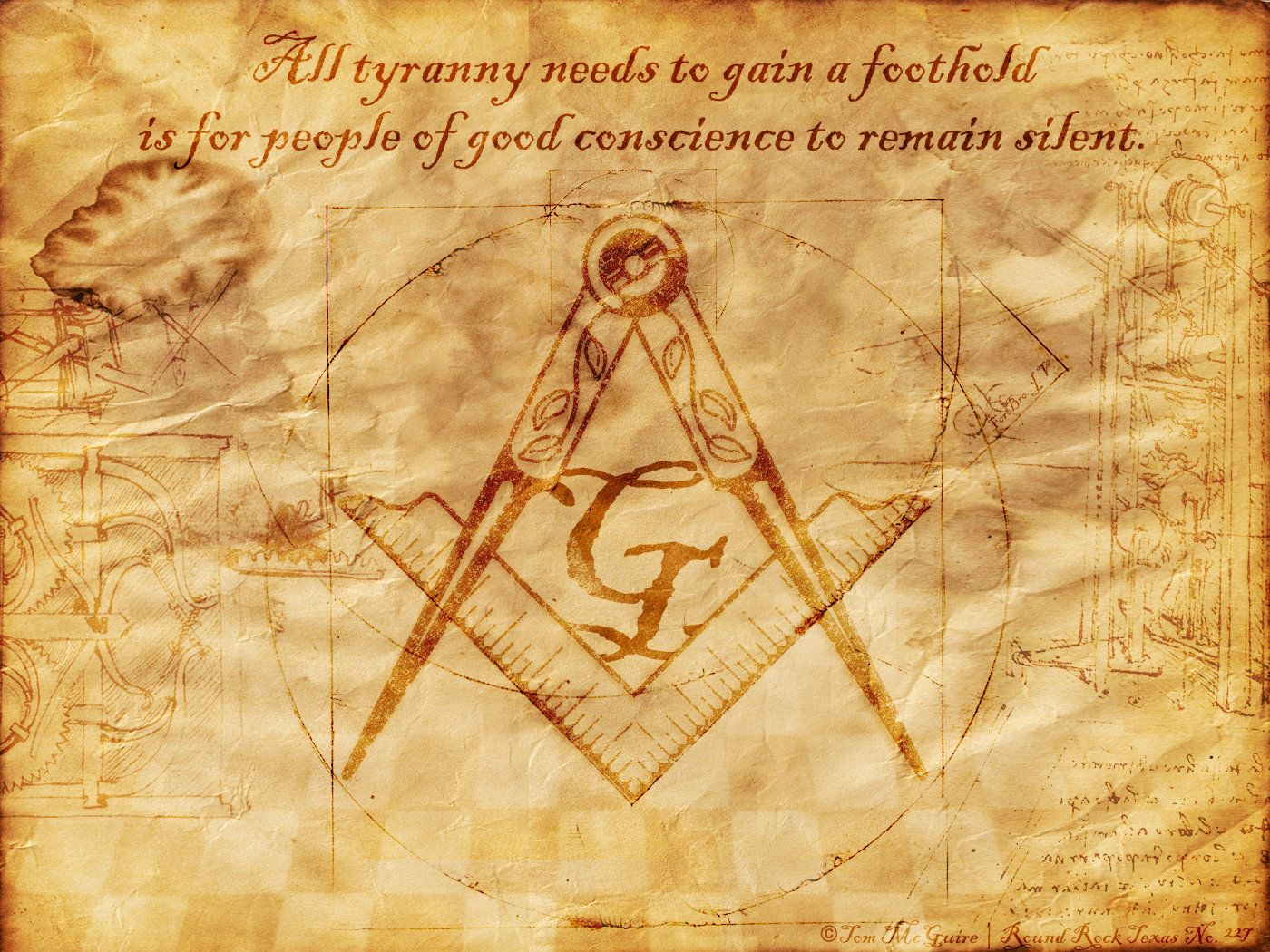 Masonic Symbol D And CG Abstract Background Wallpapers On 1400x1050 Desktop 41