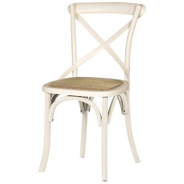 Cream Cross Back Dining Chair 110 Liked On Polyvore Featuring Home Furniture