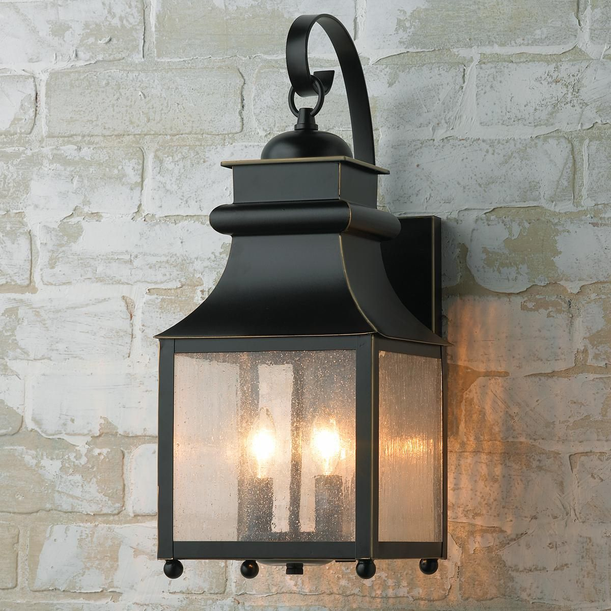 Homesteader seeded glass outdoor wall lantern outdoor wall lantern